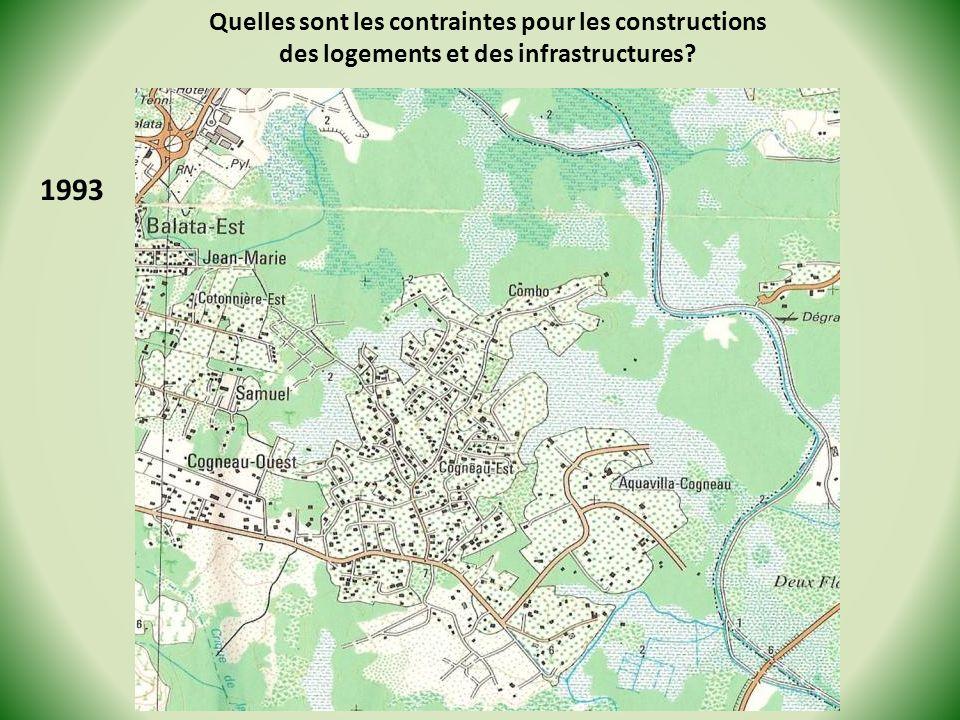 1993 Quelles sont les contraintes pour les constructions