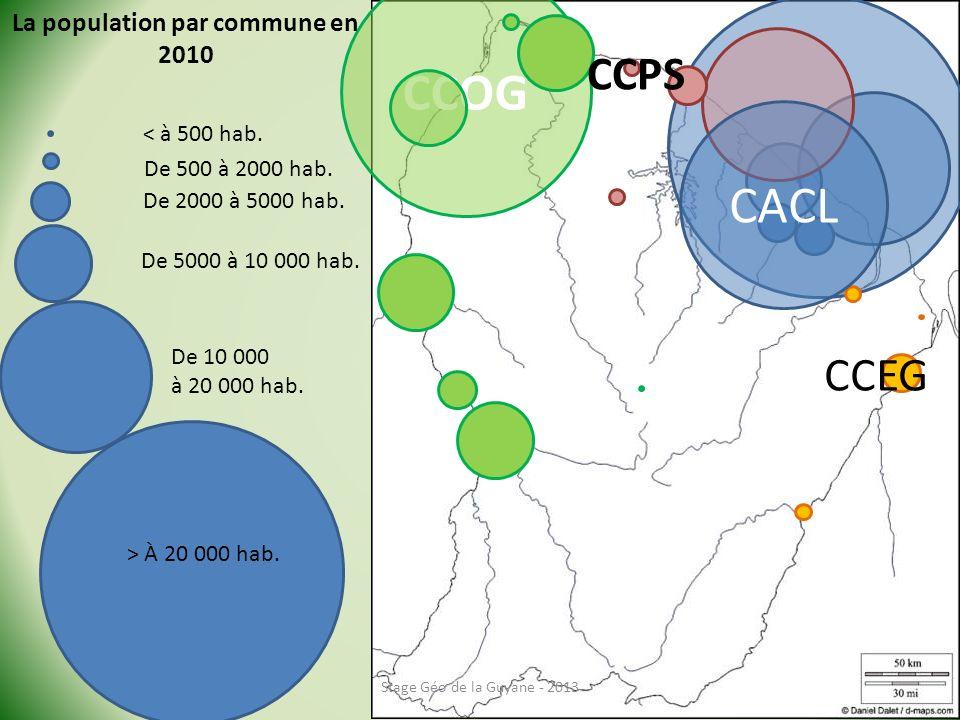 La population par commune en 2010