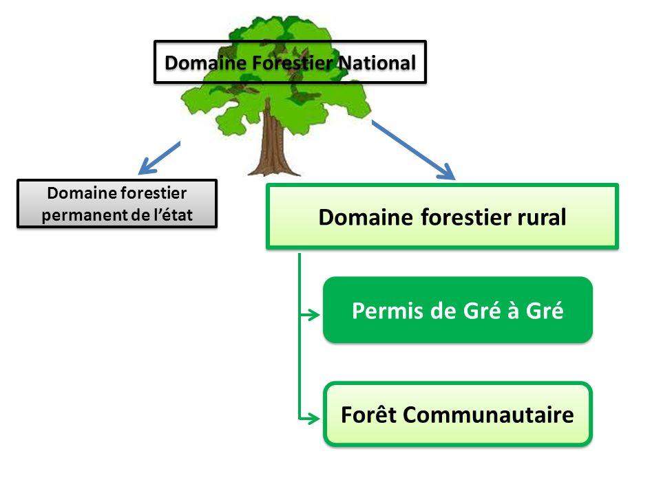 Domaine forestier rural Permis de Gré à Gré Forêt Communautaire