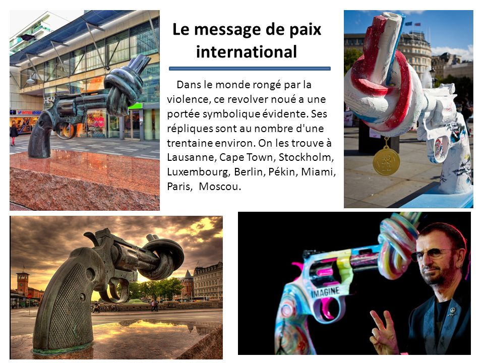Le message de paix international