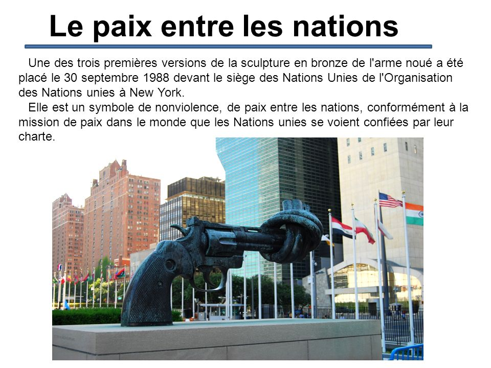 Le paix entre les nations