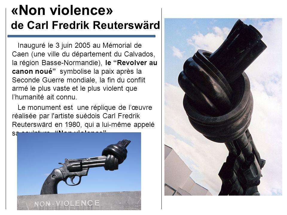«Non violence» de Carl Fredrik Reuterswärd