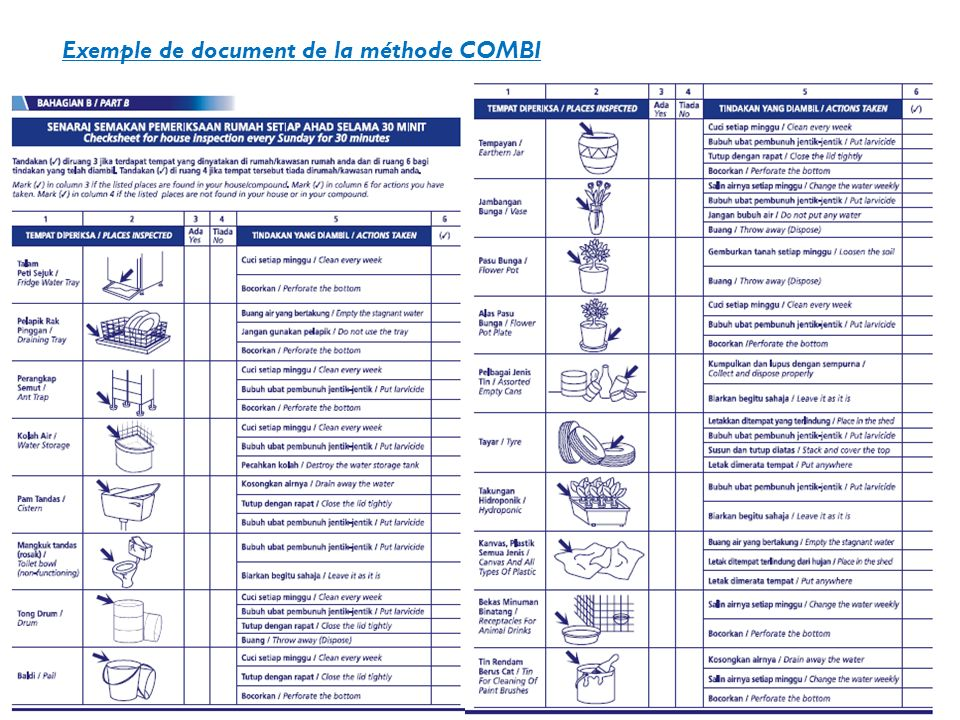 Exemple de document de la méthode COMBI