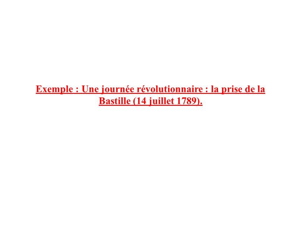 Exemple : Une journée révolutionnaire : la prise de la Bastille (14 juillet 1789).