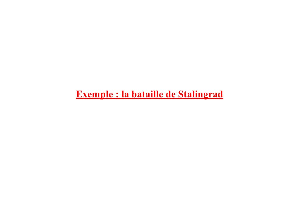 Exemple : la bataille de Stalingrad