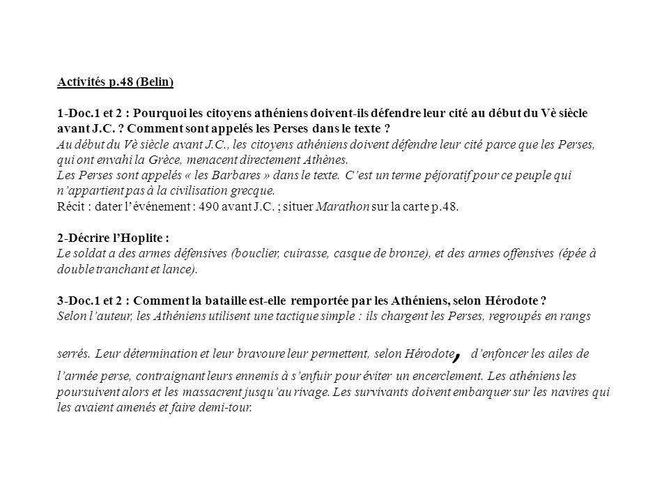 Activités p. 48 (Belin) 1-Doc