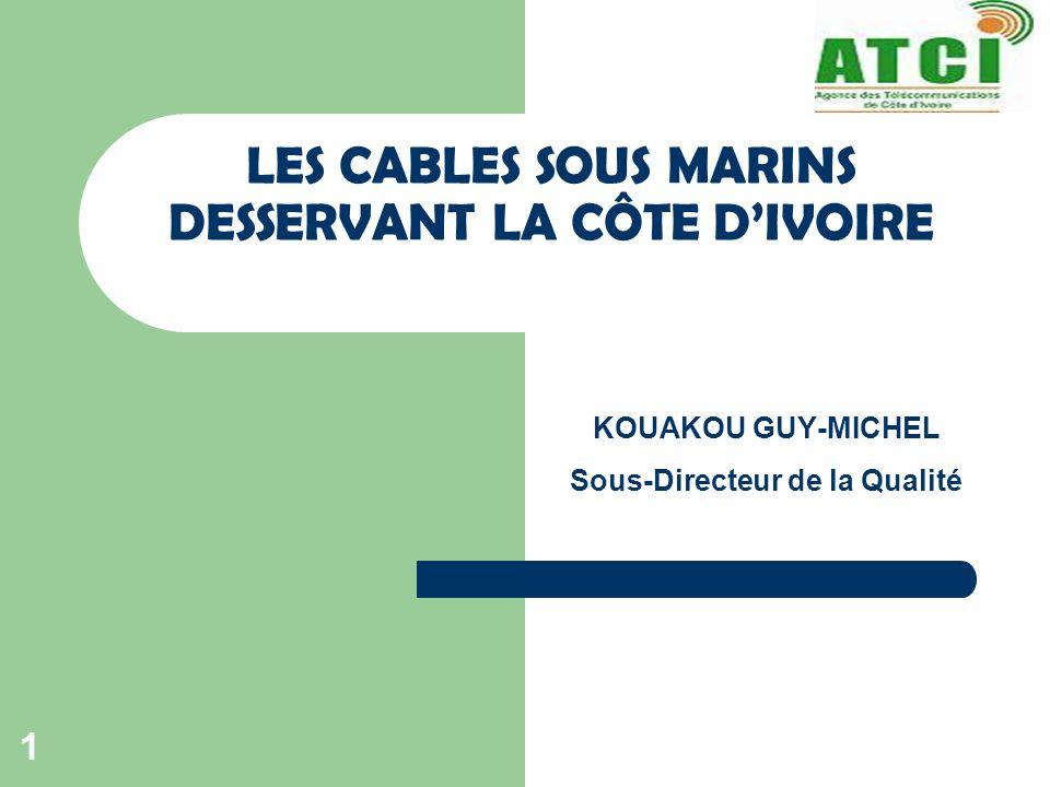 LES CABLES SOUS MARINS DESSERVANT LA CÔTE D'IVOIRE