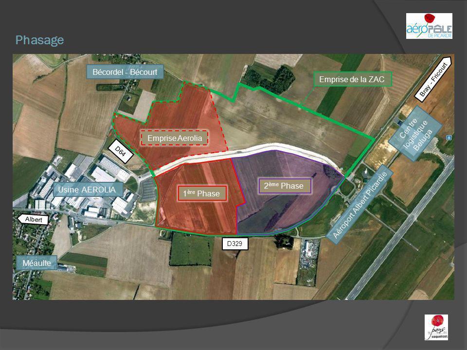 Phasage Bécordel - Bécourt Emprise de la ZAC Centre logistique Beluga