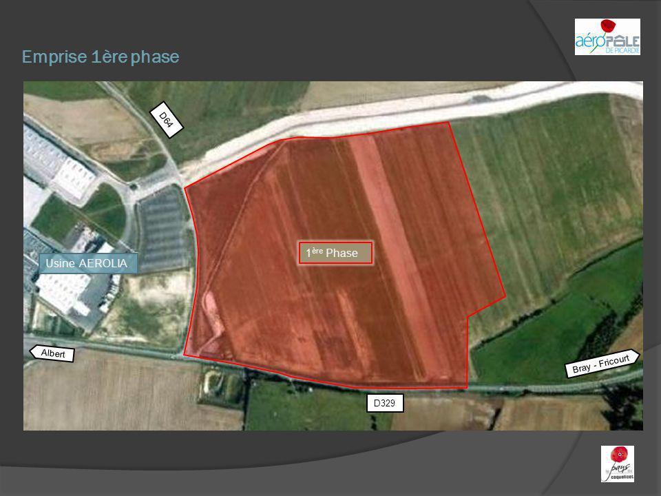 Emprise 1ère phase 1ère Phase Usine AEROLIA D64 Albert Bray - Fricourt
