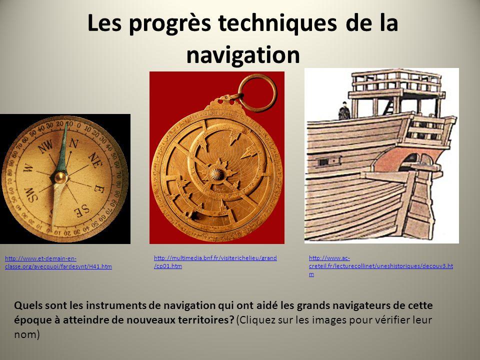 Les progrès techniques de la navigation