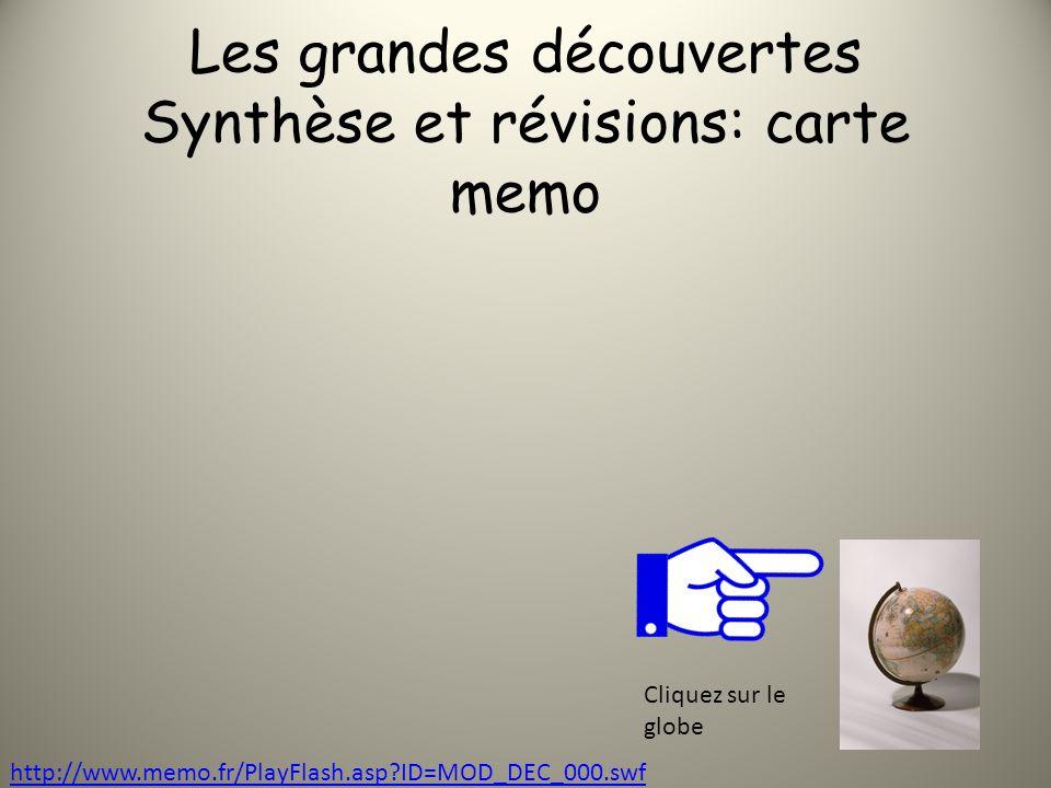 Les grandes découvertes Synthèse et révisions: carte memo