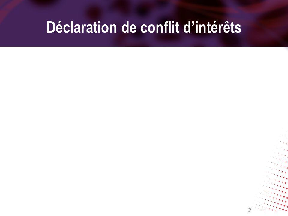 Déclaration de conflit d'intérêts