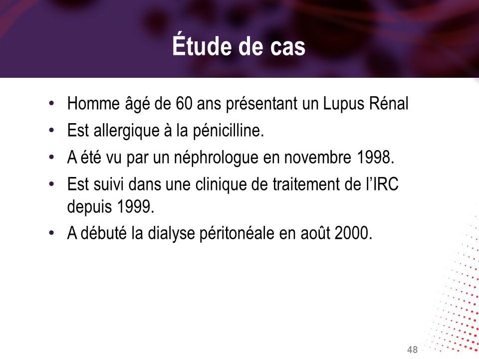 Étude de cas Homme âgé de 60 ans présentant un Lupus Rénal