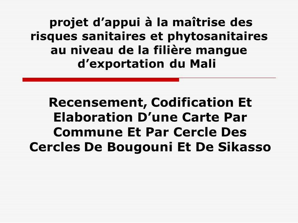 projet d'appui à la maîtrise des risques sanitaires et phytosanitaires au niveau de la filière mangue d'exportation du Mali