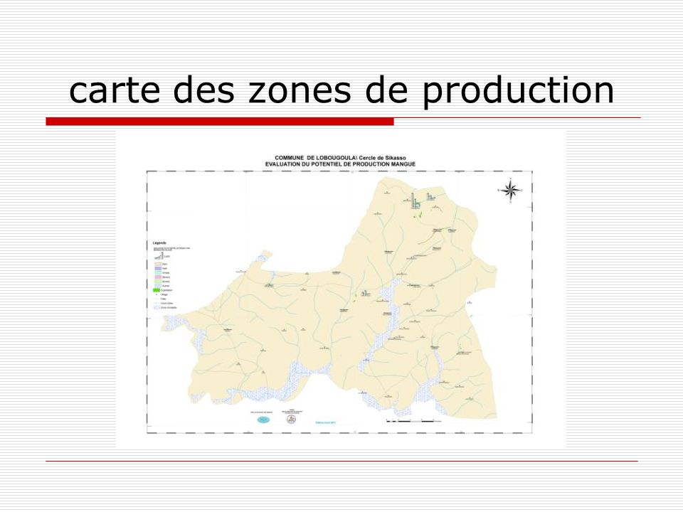 carte des zones de production