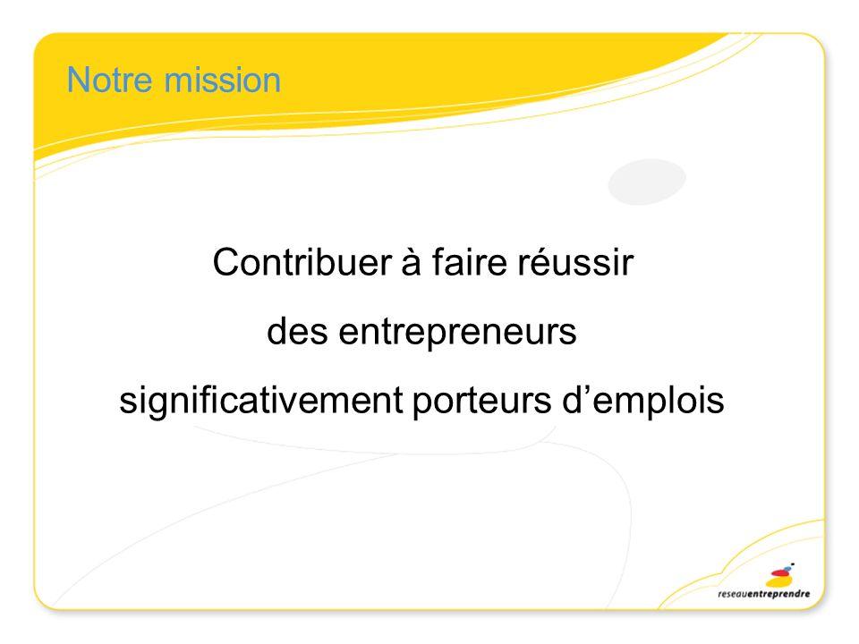 Contribuer à faire réussir des entrepreneurs
