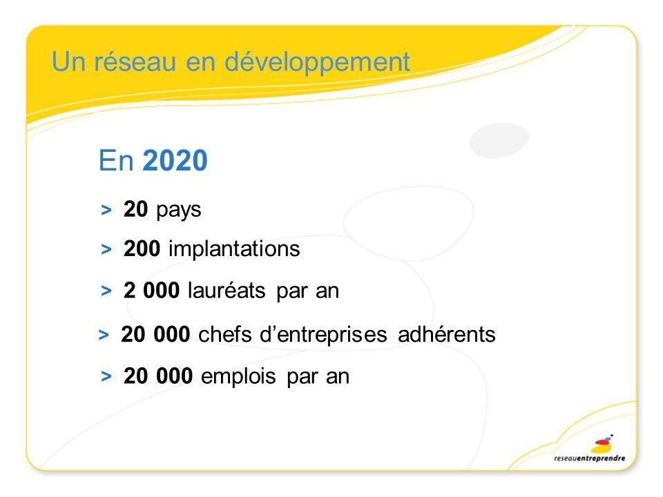 En 2020 Un réseau en développement > 20 pays > 200 implantations