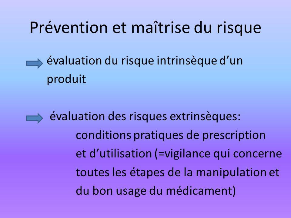 Prévention et maîtrise du risque
