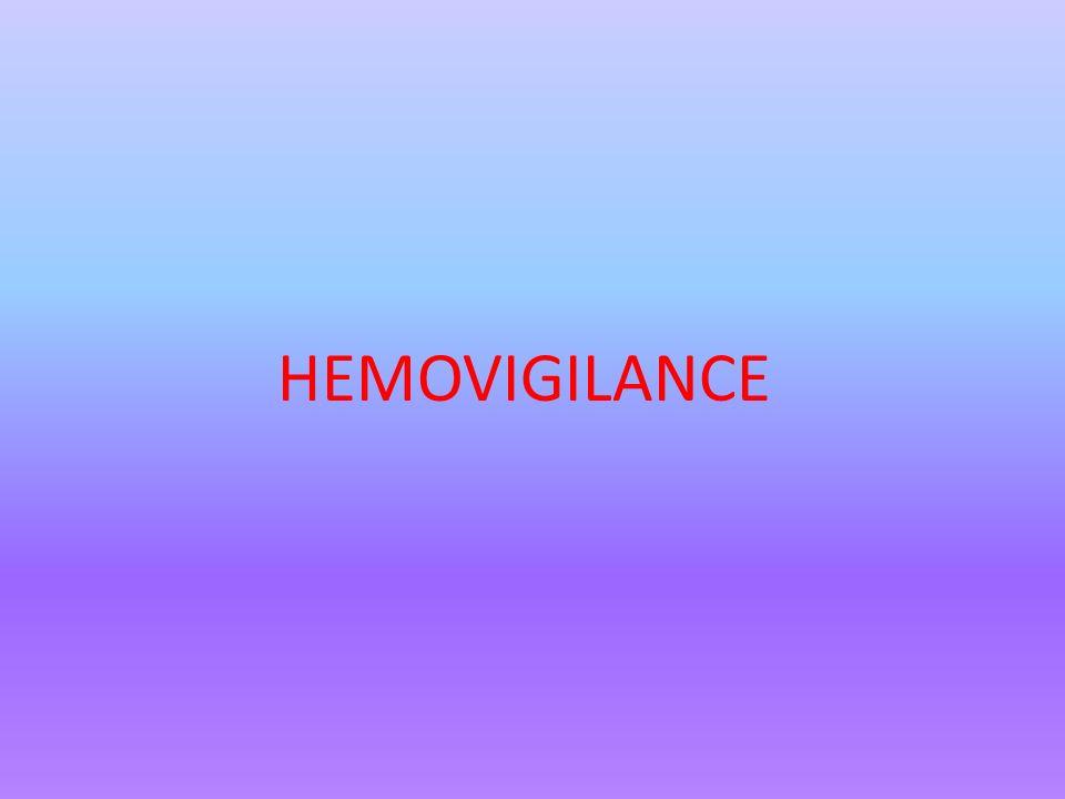 HEMOVIGILANCE