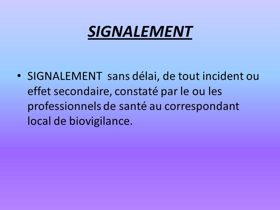 SIGNALEMENT