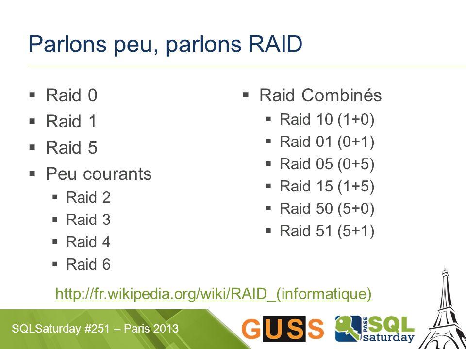 Parlons peu, parlons RAID