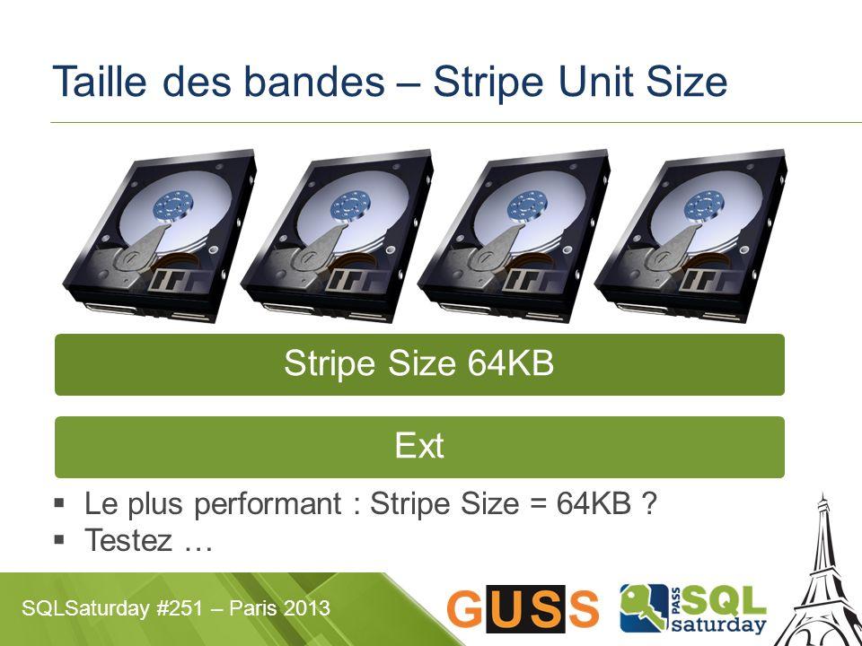 Taille des bandes – Stripe Unit Size