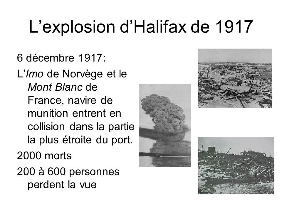 L'explosion d'Halifax de 1917