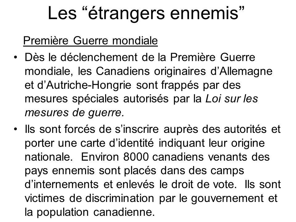 Les étrangers ennemis