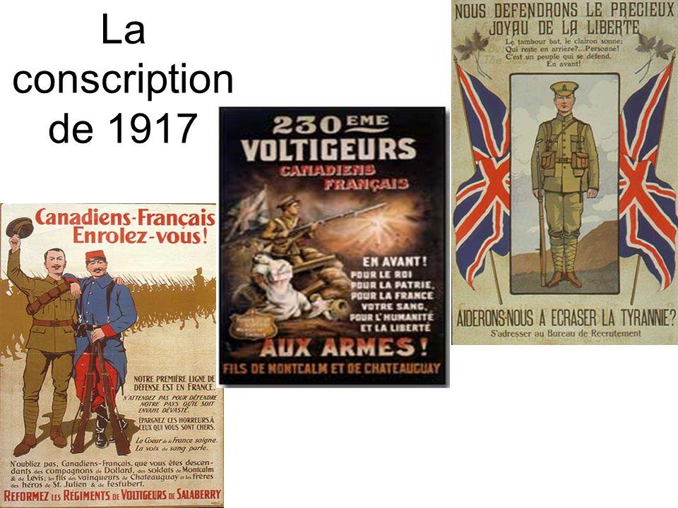 La conscription de 1917