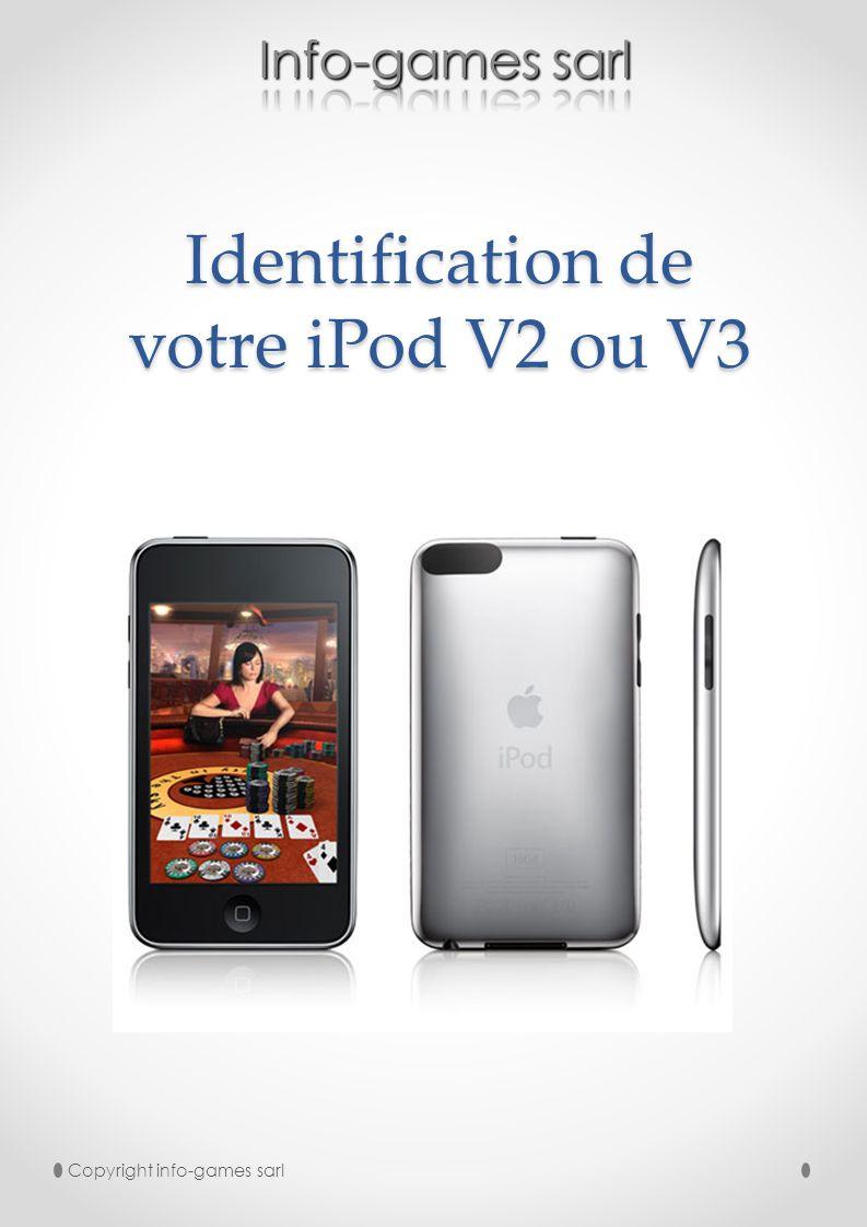 Identification de votre iPod V2 ou V3