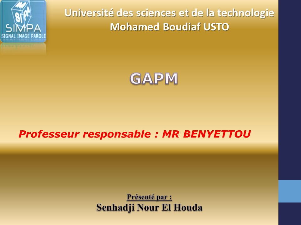 Université des sciences et de la technologie Mohamed Boudiaf USTO