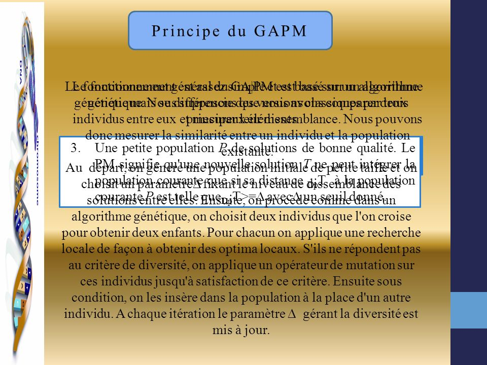 Principe du GAPM