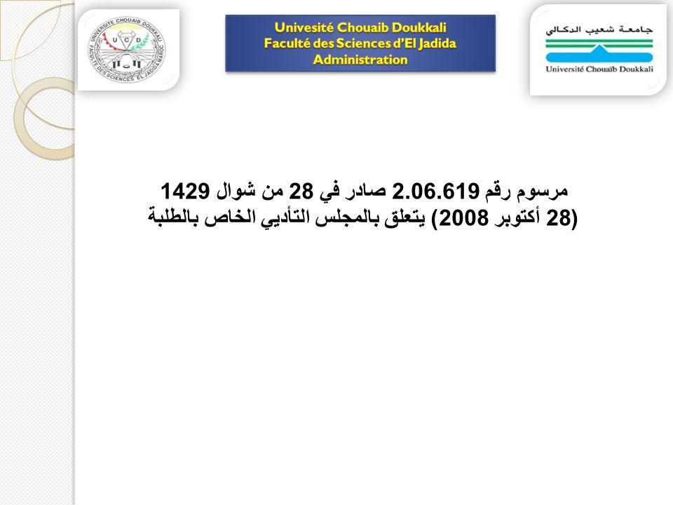 مرسوم رقم 2.06.619 صادر في 28 من شوال 1429