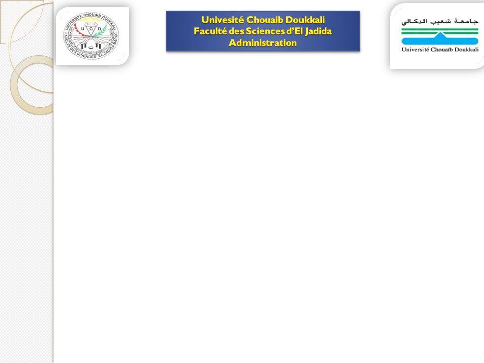 Univesité Chouaib Doukkali Faculté des Sciences d'El Jadida
