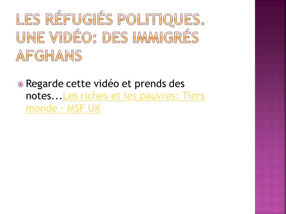 Les réfugiés politiques. Une vidéo: Des immigrés afghans