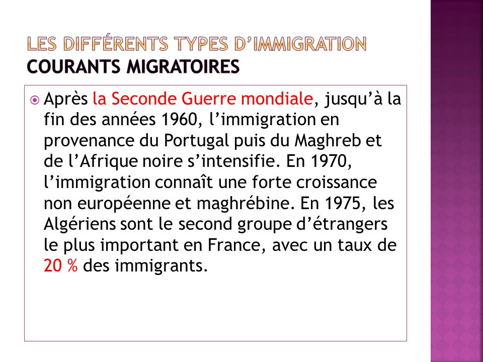 Les différents types d'immigration courants migratoires