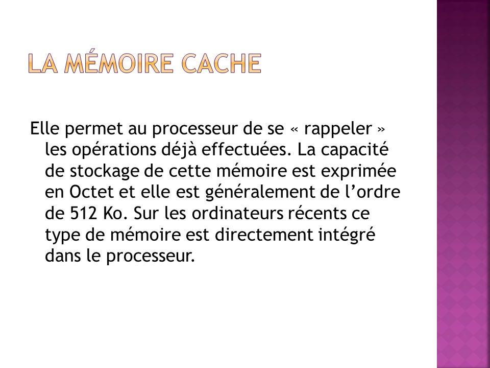 La mémoire cache