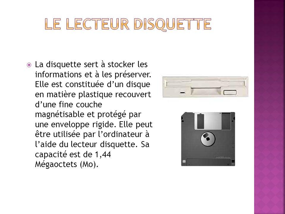 Le lecteur disquette