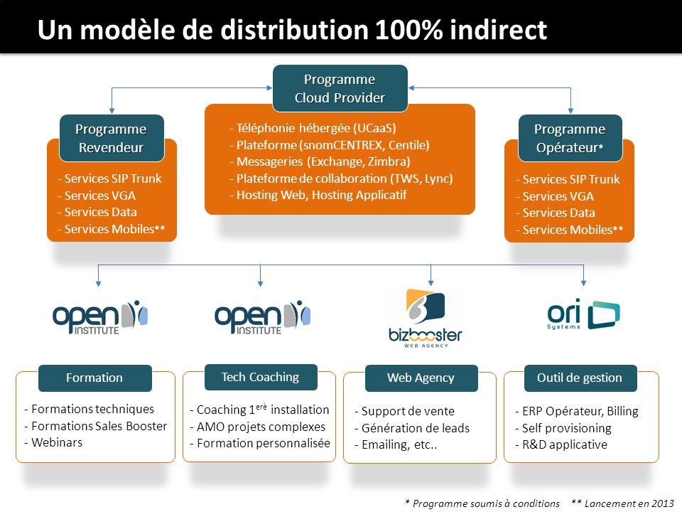 Un modèle de distribution 100% indirect