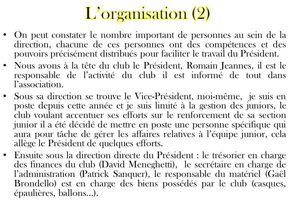 L'organisation (2)