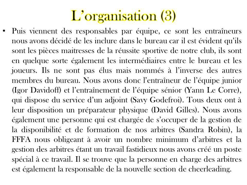 L'organisation (3)