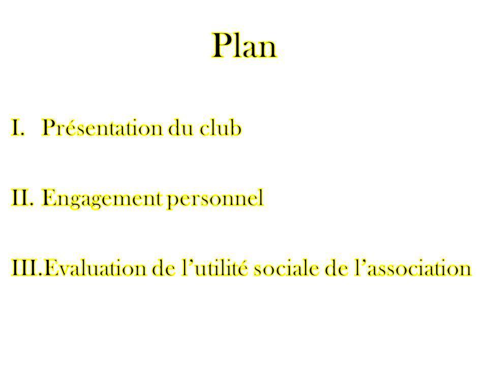 Plan Présentation du club Engagement personnel