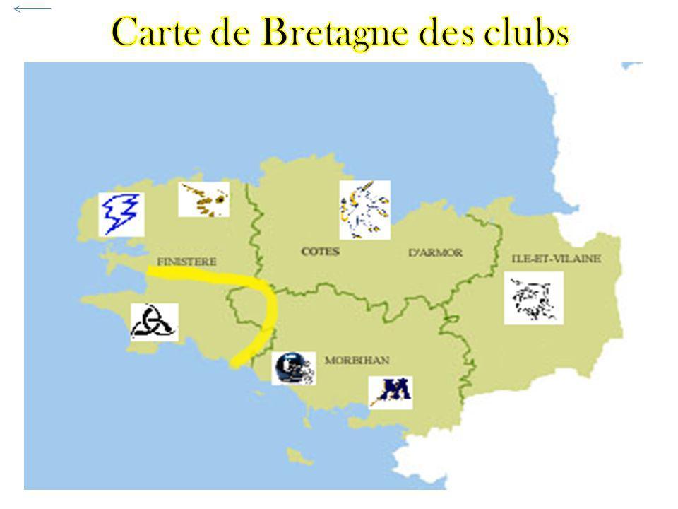 Carte de Bretagne des clubs
