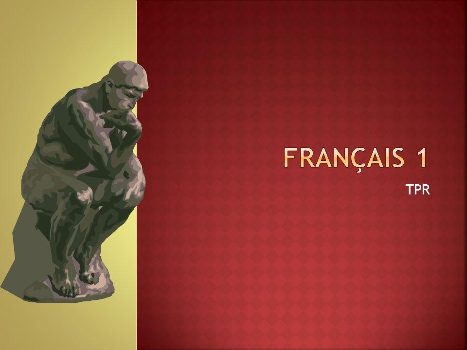 Français 1 TPR