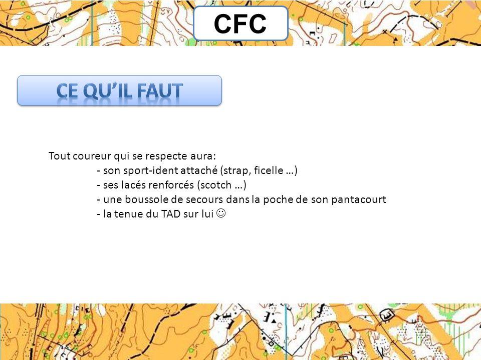 CFC Ce qu'il faut Tout coureur qui se respecte aura: