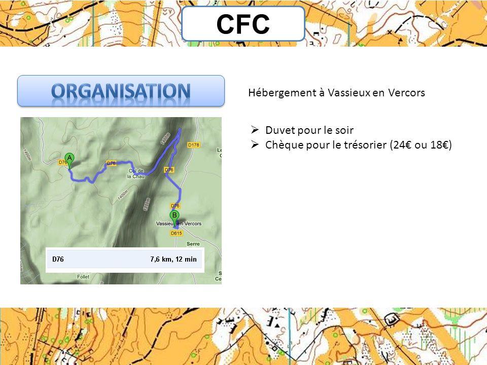 CFC Organisation Hébergement à Vassieux en Vercors Duvet pour le soir