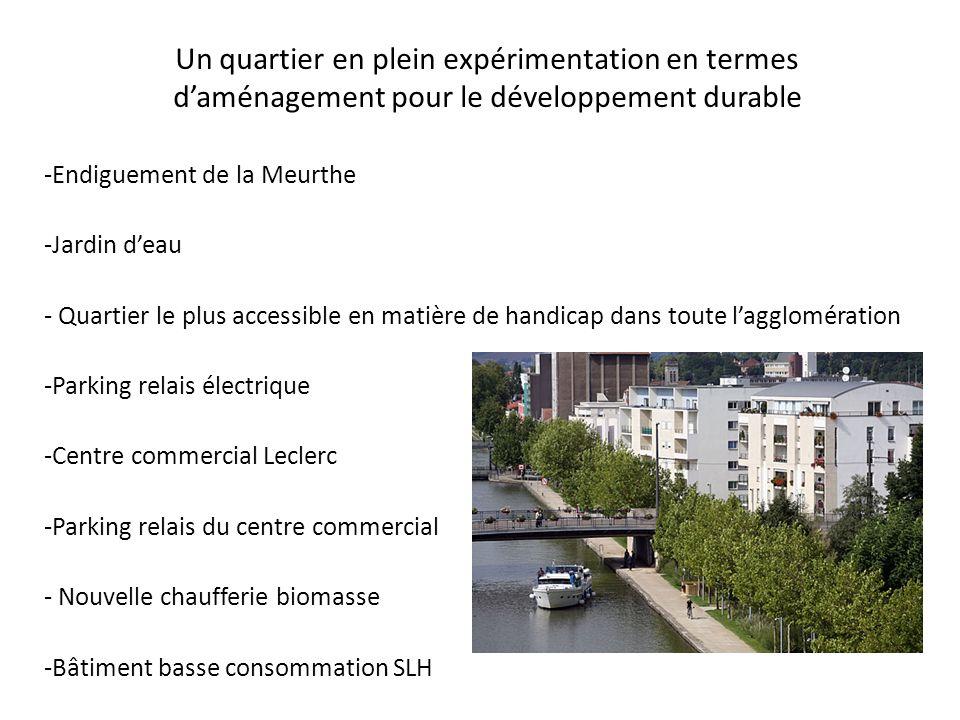 Un quartier en plein expérimentation en termes d'aménagement pour le développement durable