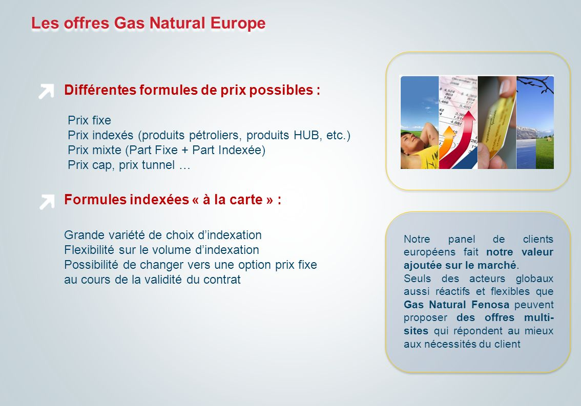 Les offres Gas Natural Europe