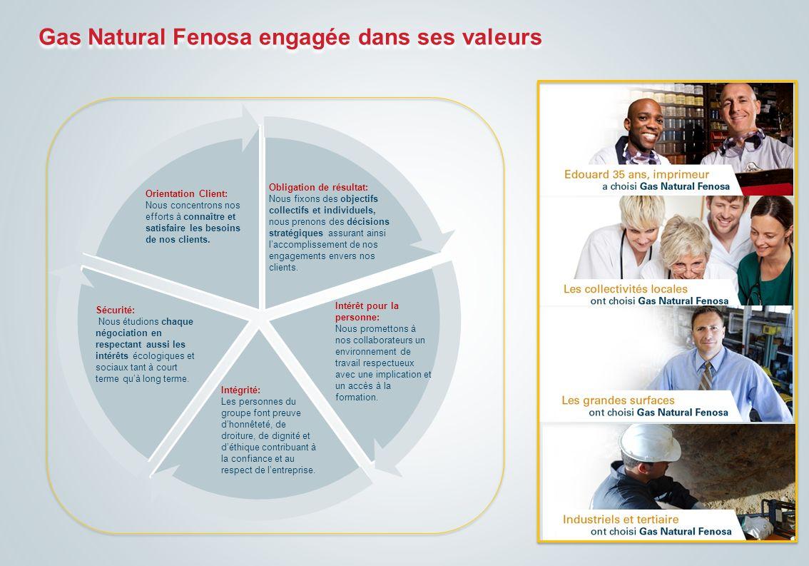 Gas Natural Fenosa engagée dans ses valeurs
