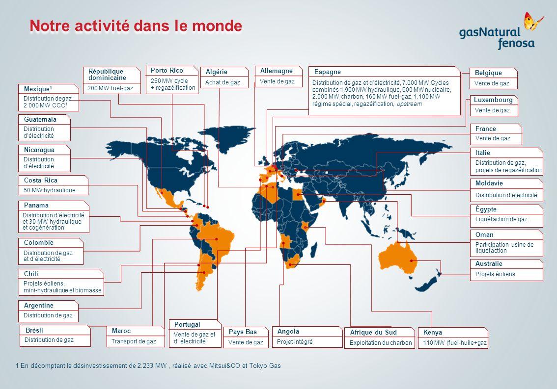 Notre activité dans le monde